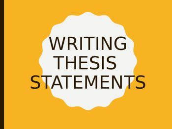 Critical essay thesis - The Writing Center